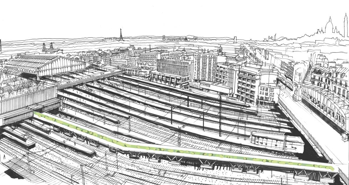 Liaison de la future gare du Nord