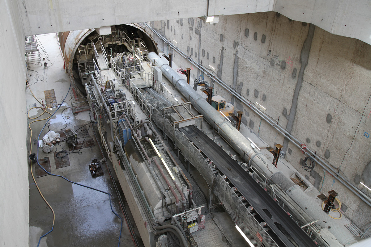 Prolongement sud des travaux à la gare métro de la ligne 14 Chevilly.