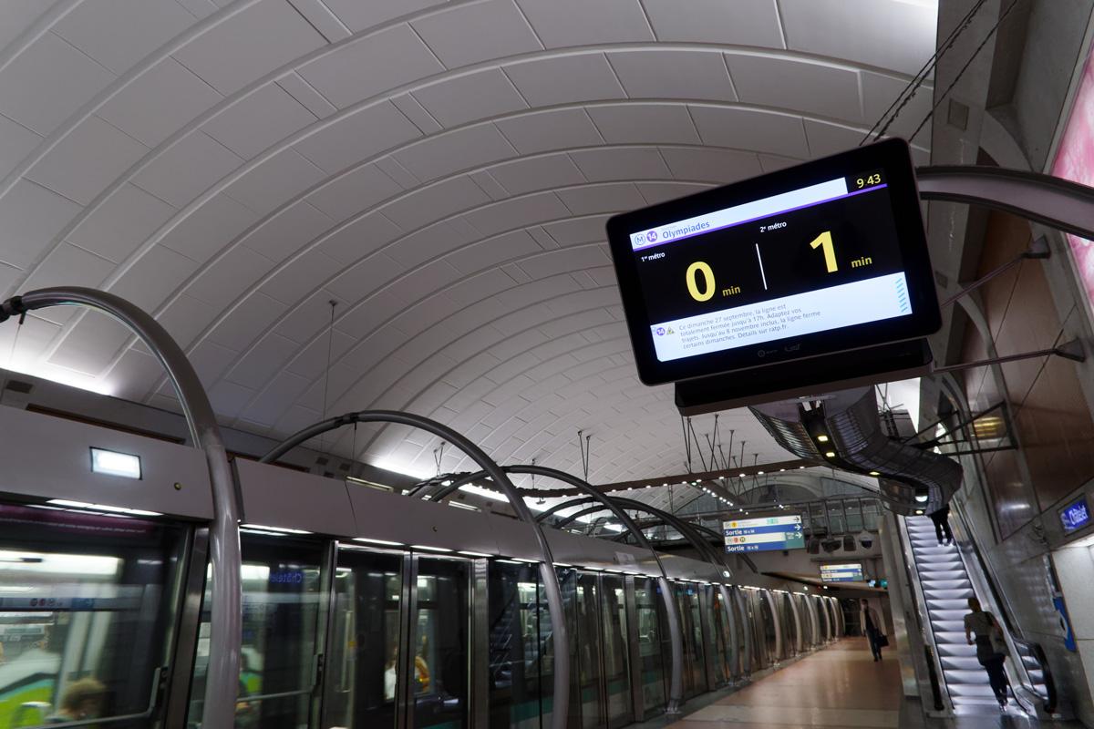 La station Olympiades sur la ligne 14 du métro
