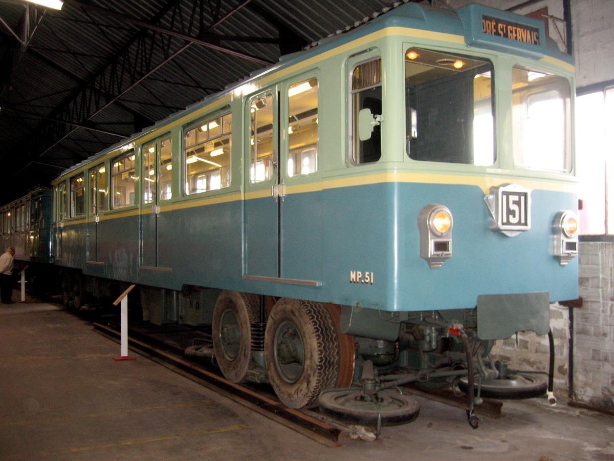 Le MP 51 constitue la première génération au monde de métro sur pneumatiques.