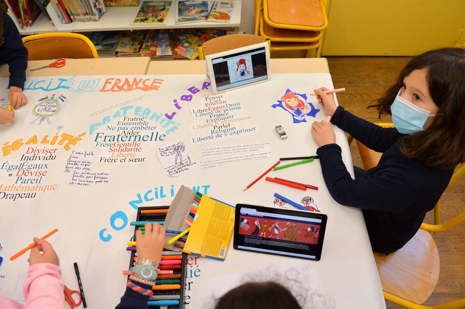 Atelier Laïcité à la bibliothèque de l'école Hospitalières St Gervais 4e