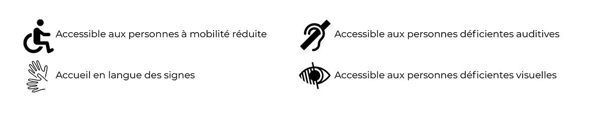 La mairie est accesssible aux personnes à mobilité réduite, aux personnes déficientes auditives et/ou visuelles et vous propose un accueil en langue des signes.