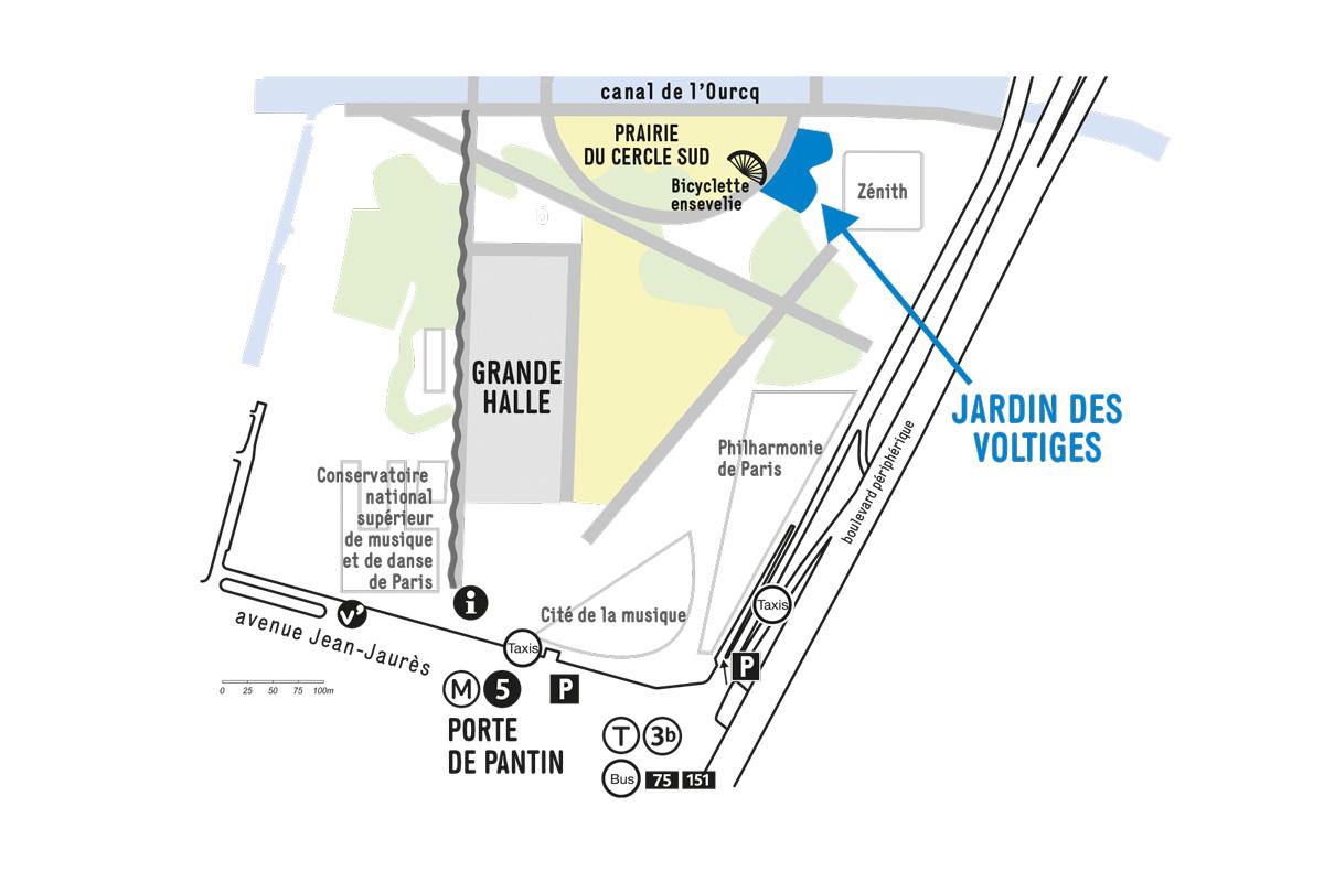 Plan du Jardin des voltiges