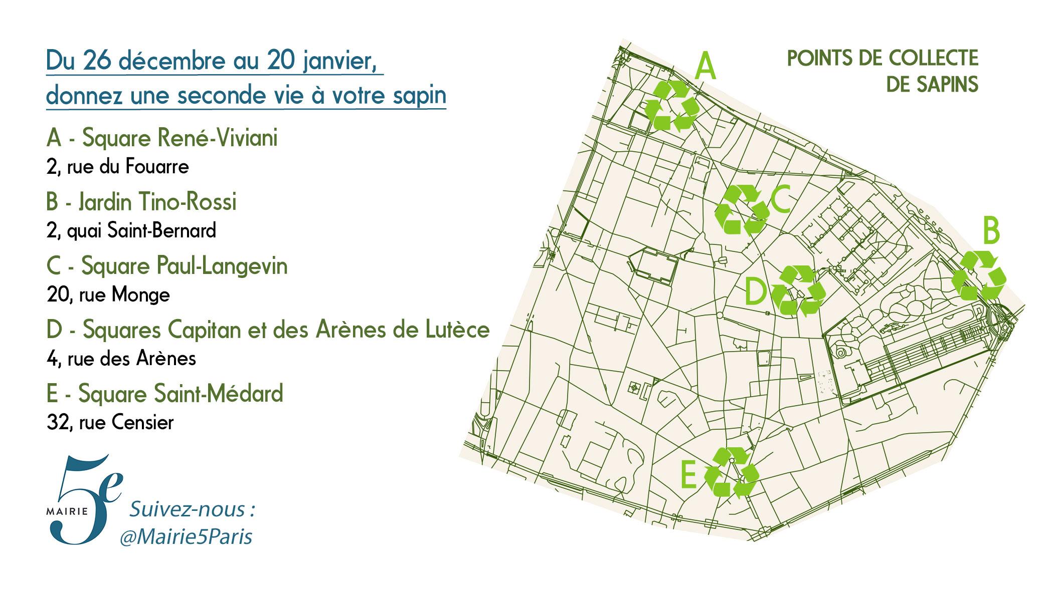 Mairie5paris recycler sapins