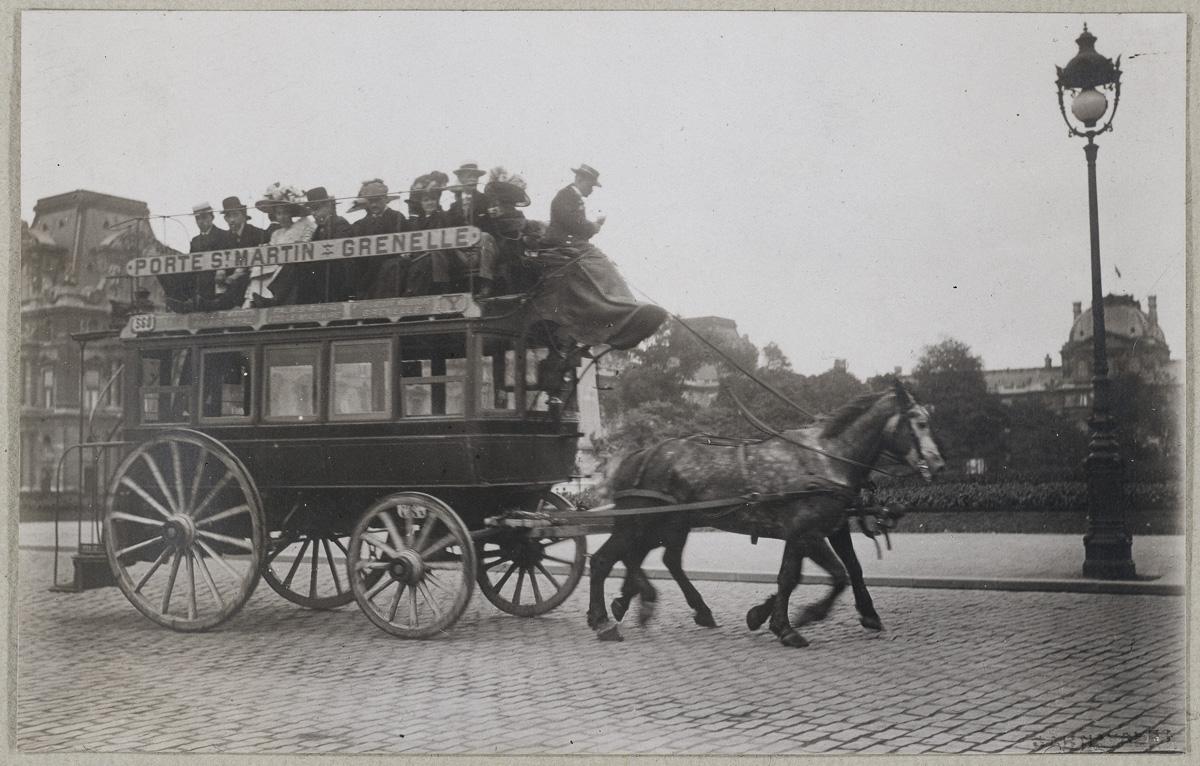 Les transports - Omnibus (Porte Saint Martin - Grenelle)