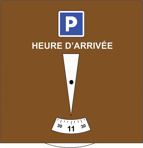 Exemple de disque de stationnement français