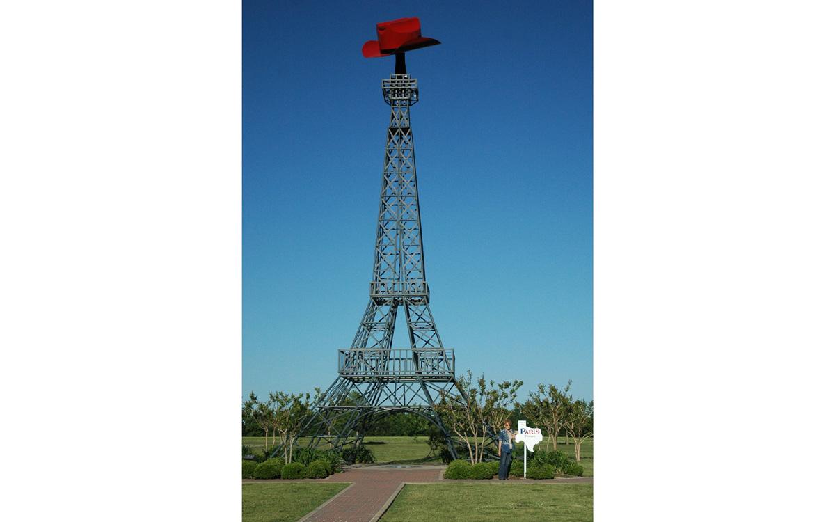 Réplique de la Tour Eiffel dans la ville de Paris Texas