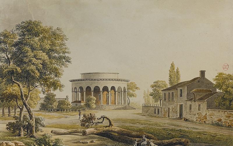 """Louis-Philibert Debucourt (1755-1832) d'après Palaiseau. """"Barrière de Reuilly""""."""