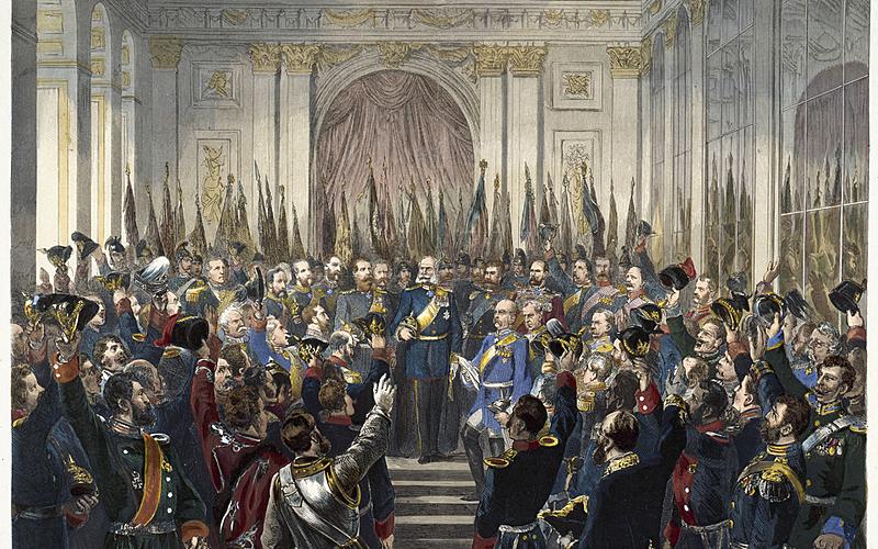Proclamation de l'empire allemand à Versailles, 18 janvier 1871.