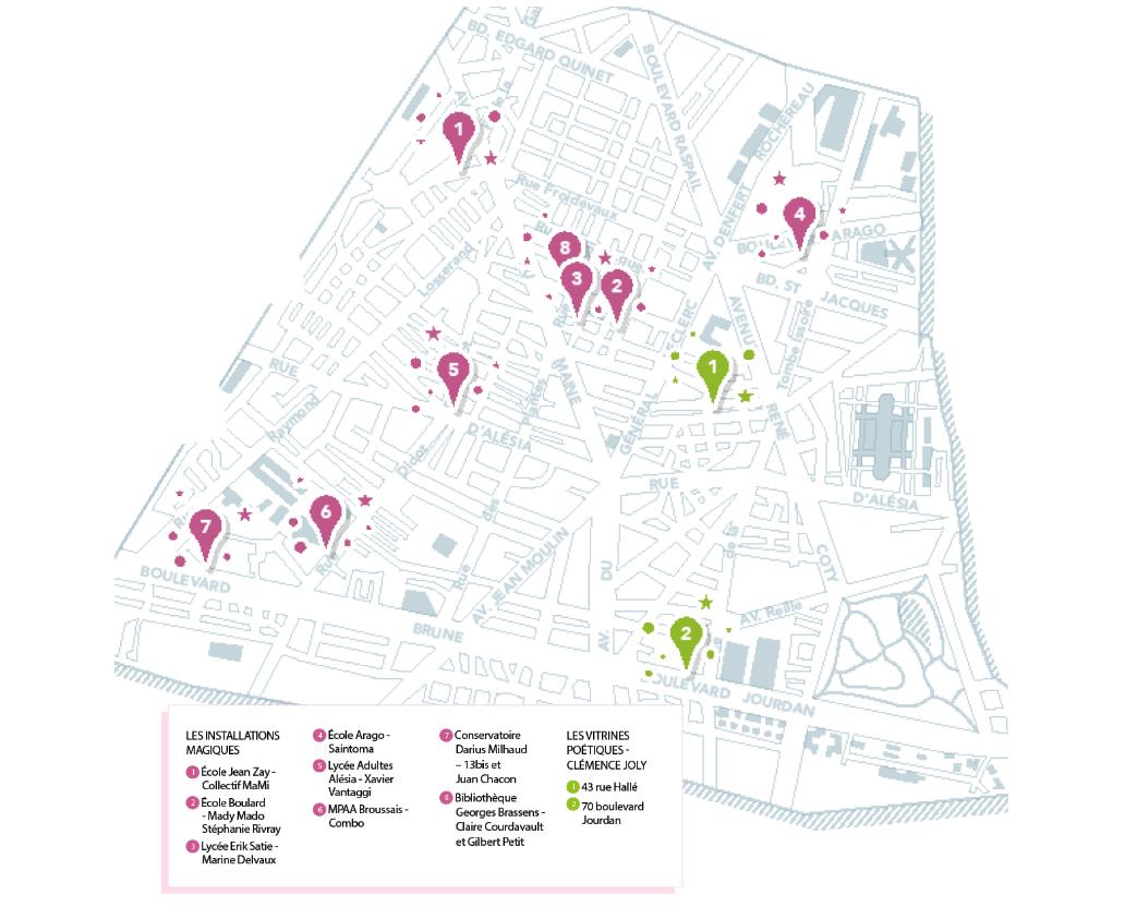 Carte des installations et vitrines pour les voeux 2021