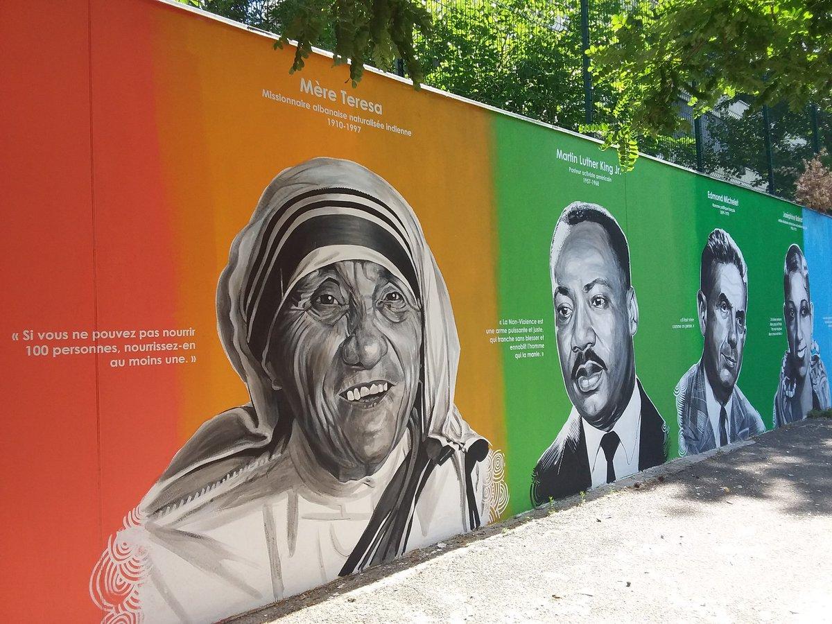 Le mur de la paix , situé sur les murs du collège Michelet, a été voté en 2016.