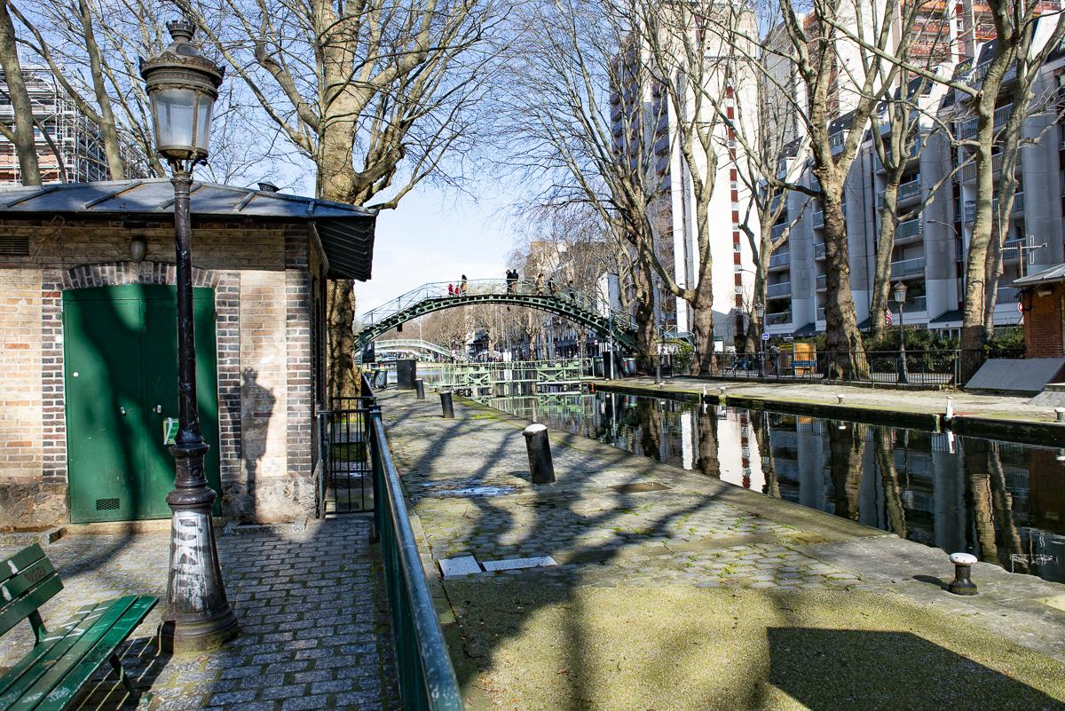 La passerelle des Douanes sur le canal Saint Martin