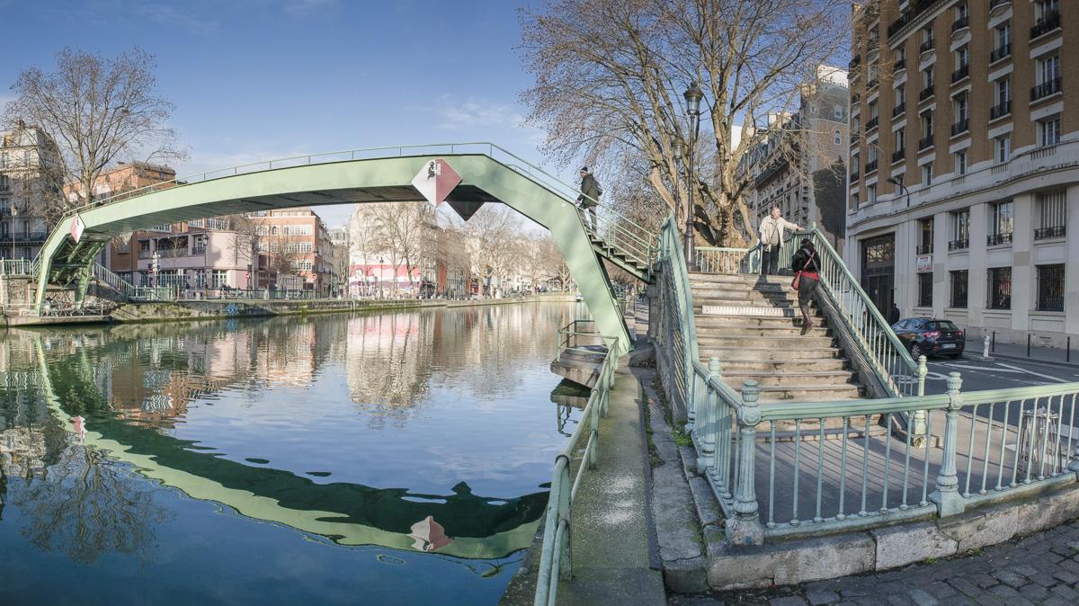 La Passerelle Richerand sur le canal Saint Martin