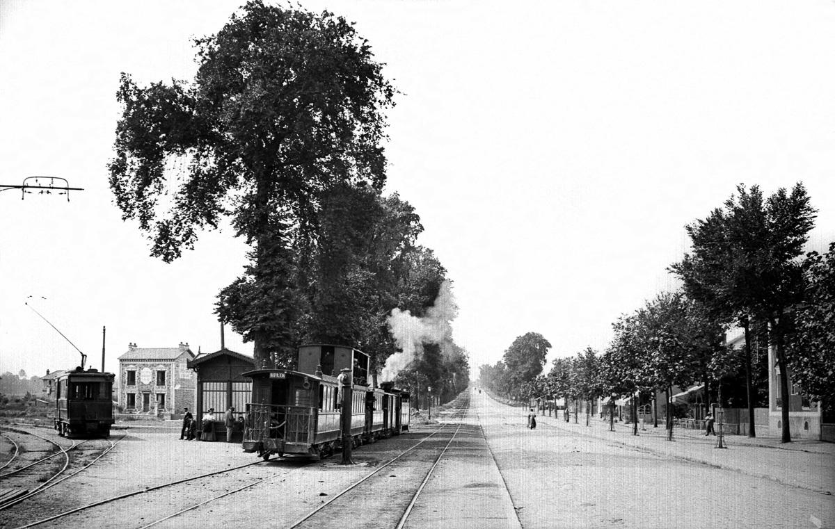 """La route d'Orléans et le """"Paris-Arpajon""""."""