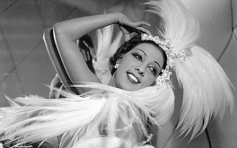 Joséphine Baker (1906-1975), artiste de music-hall américaine. Paris.