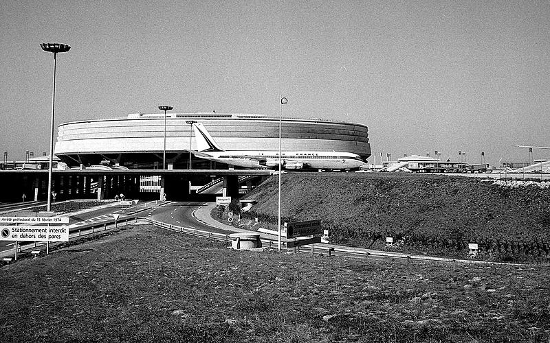 L'aéroport de Roissy-Charles de Gaulle en 1976.