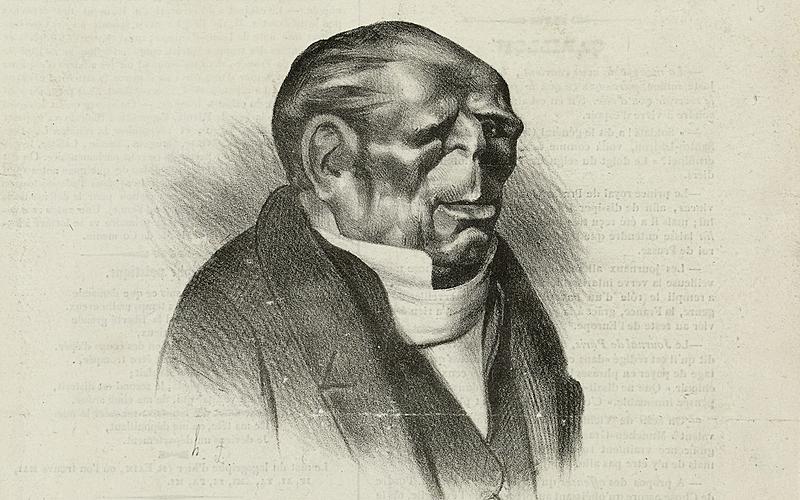 "Honoré Daumier (1808-1879). ""Benjamin Dudessert"". Benjamin Delessert. Lithographie, 1833. Paris, Maison de Balzac."