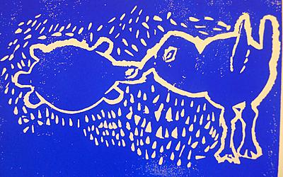 Dessin représentant une tortue et un oiseau.