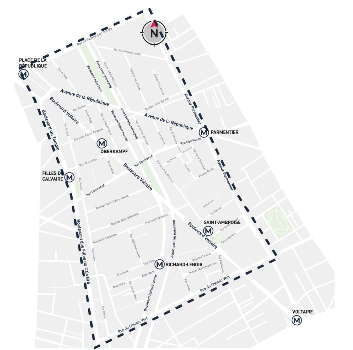 Embellir votre quartier : plan du quartier République Saint-Ambroise