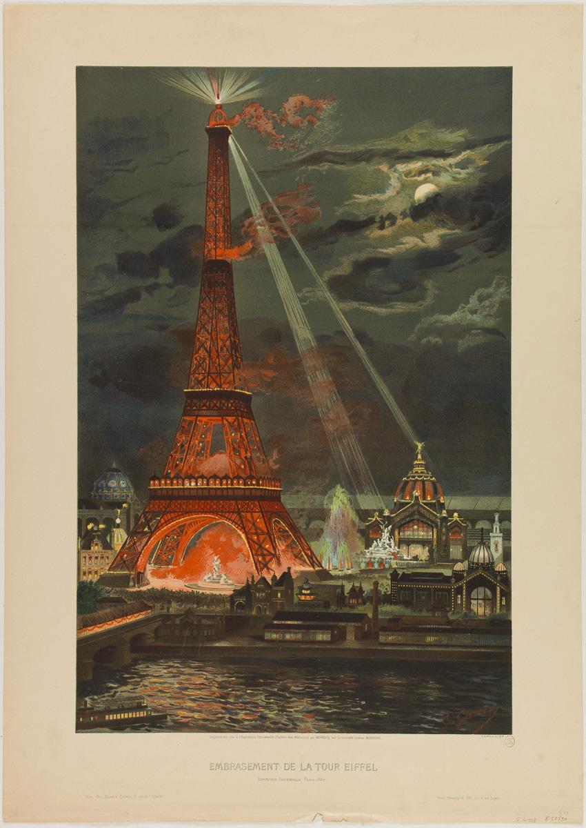 Embrasement de la Tour Eiffel