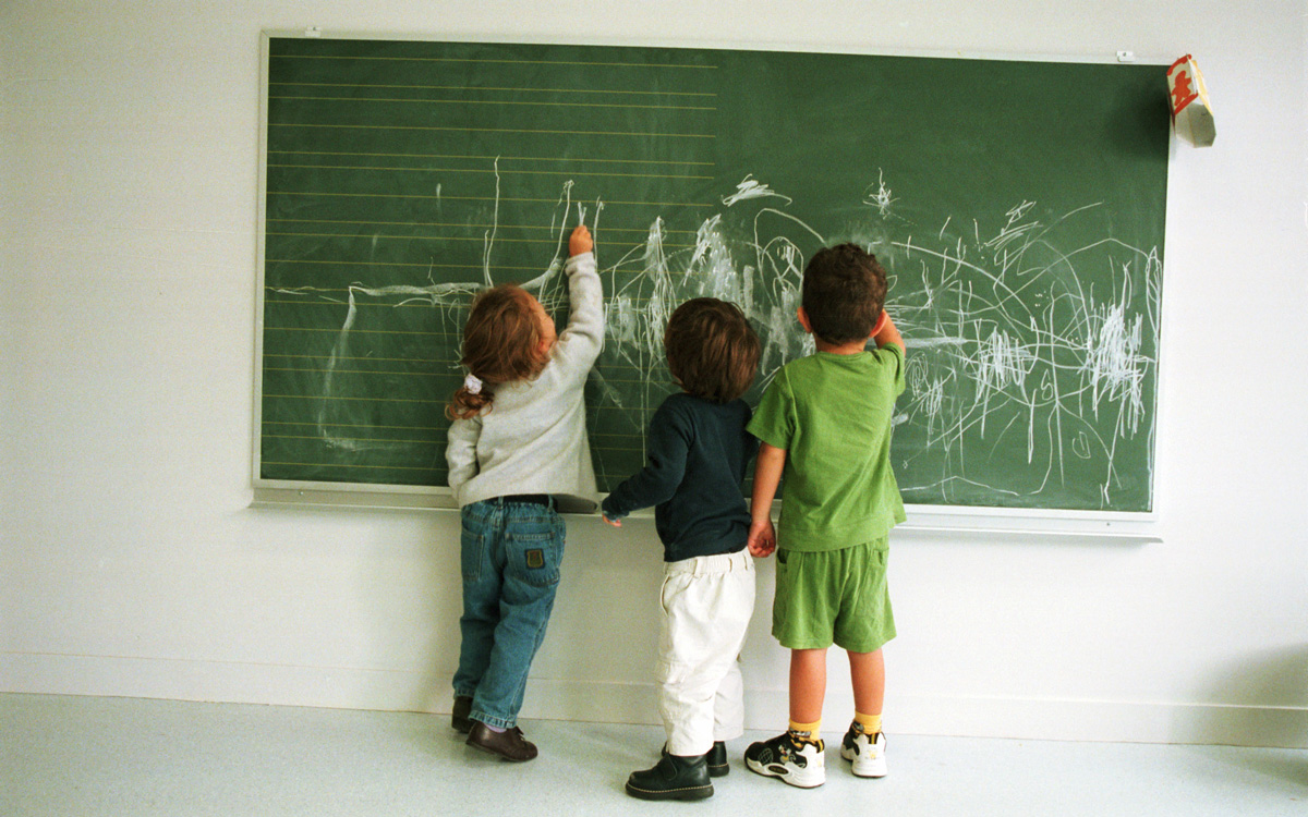 Enfants au tableau