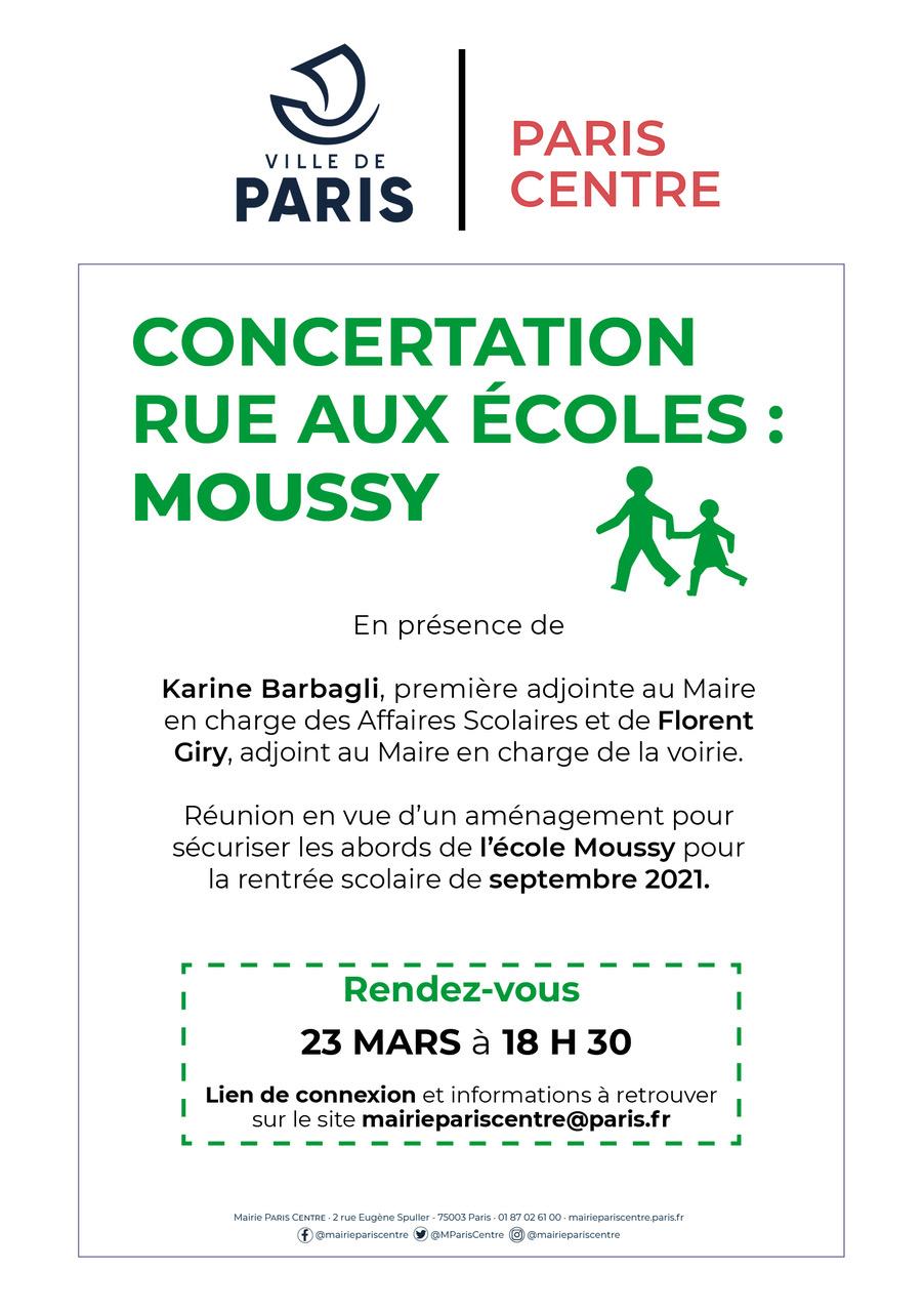 Concertation rue aux écoles : Moussy