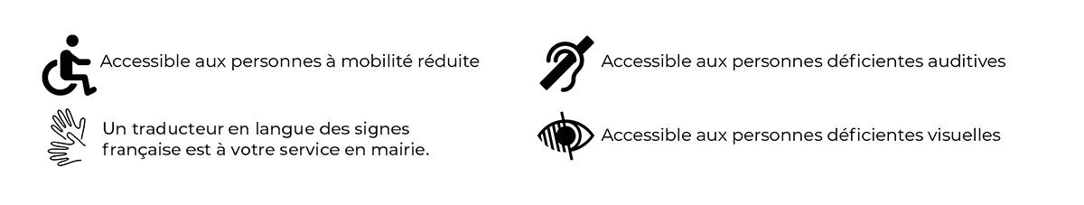 La mairie du 12e est accessible aux personnes à mobilité réduite, aux personnes déficientes auditives et aux personnes déficientes visuelles. un traducteur en langue des signes française est à la votre service en mairie.