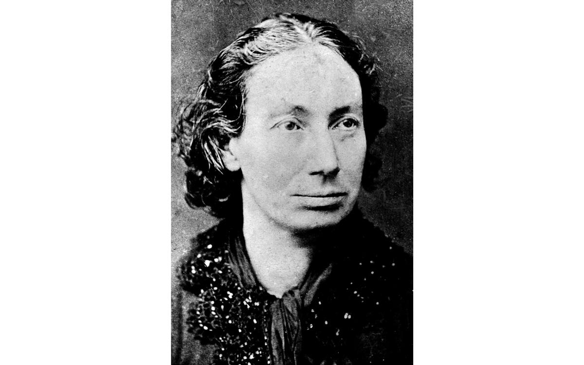 Louise Michel (1830-1905), révolutionnaire française qui prit part à la Commune de Paris, en 1871.