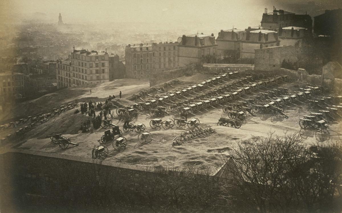 Parc d'artillerie de la Butte Montmartre (18 mars 1871). Planche 175 de l'album sur la Commune :