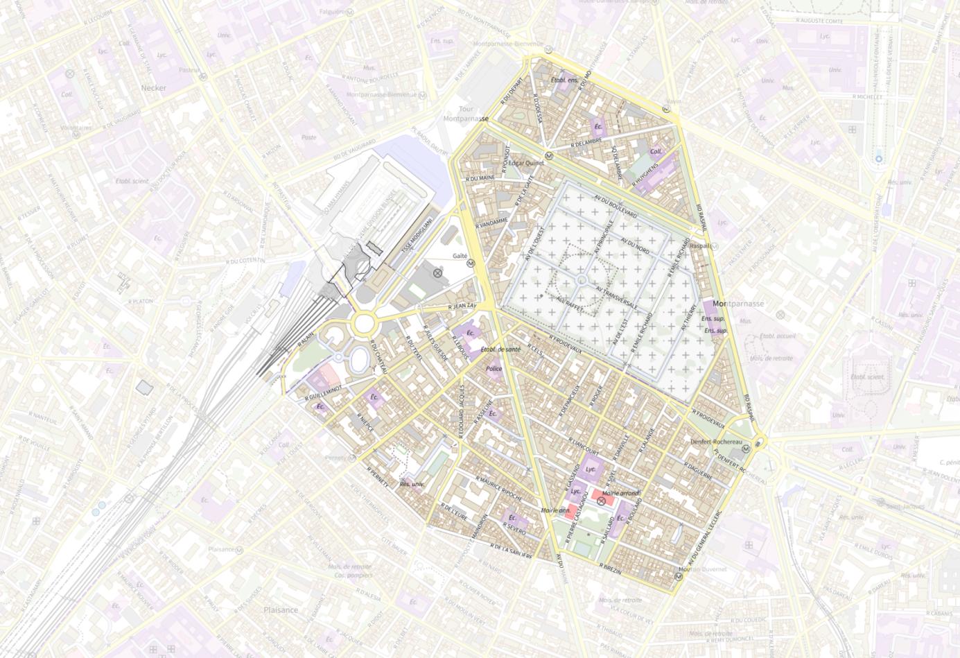 Plan du quartier Grand Montparnasse
