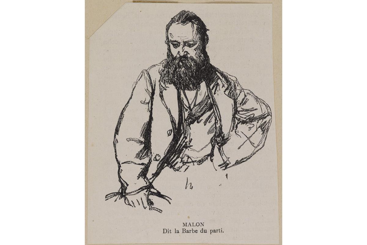 Benoît Malon. Malon dit la barbe du parti