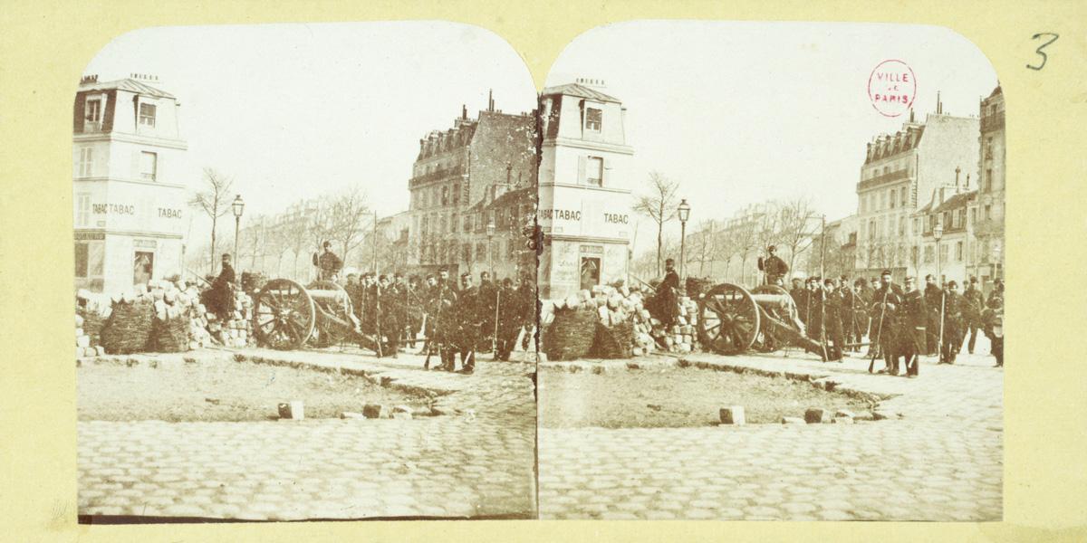 Barricade de la Barrière d'Enfer, 14ème arrondissement, Paris