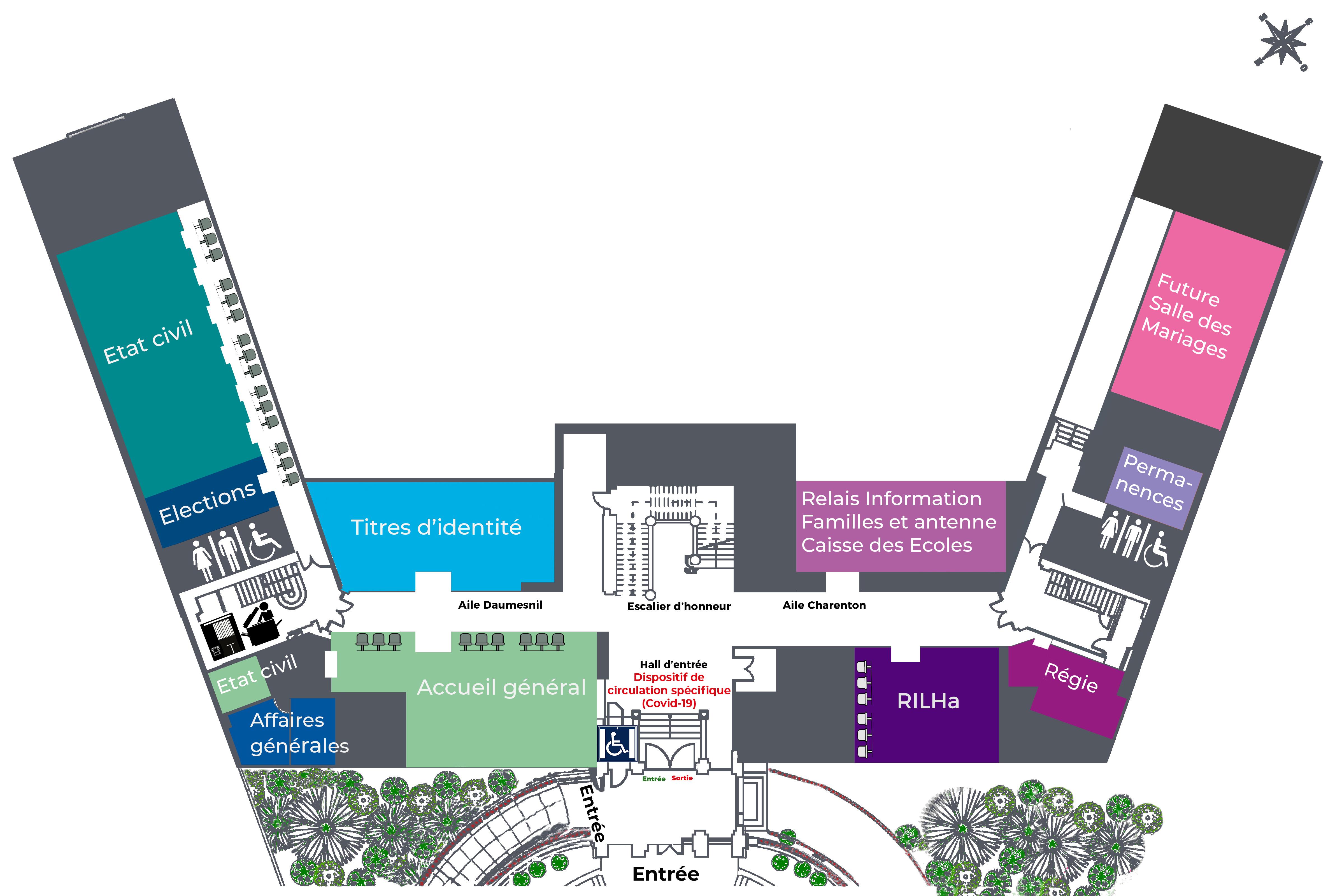 Tous les services à la population sont désormais situés au rez-de-chaussée de la mairie.
