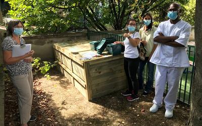 Compost partagé dans la créche de la rue Renard Paris 13