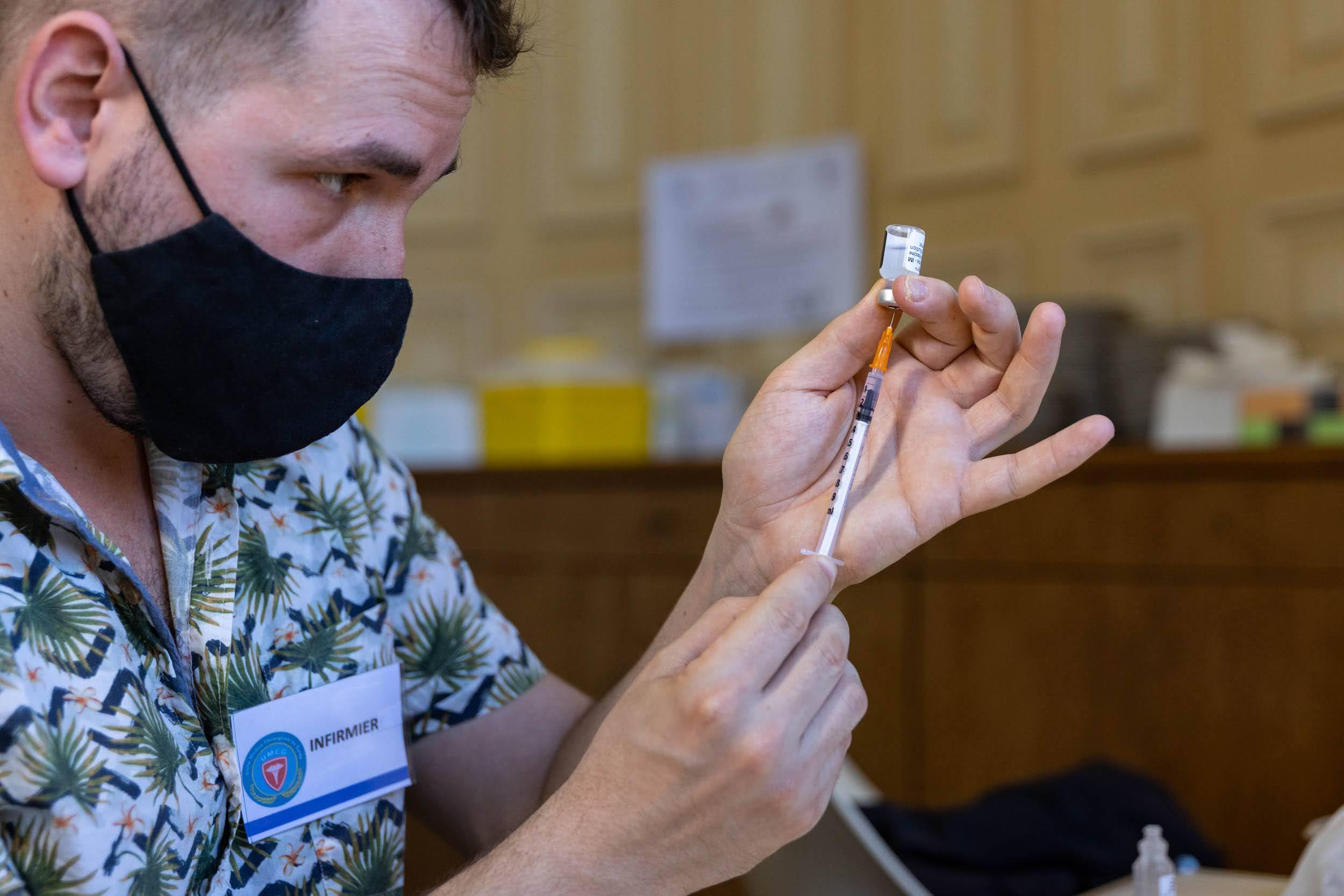 Centre de vaccination Covid-19 du 13e (Mairie du 13).