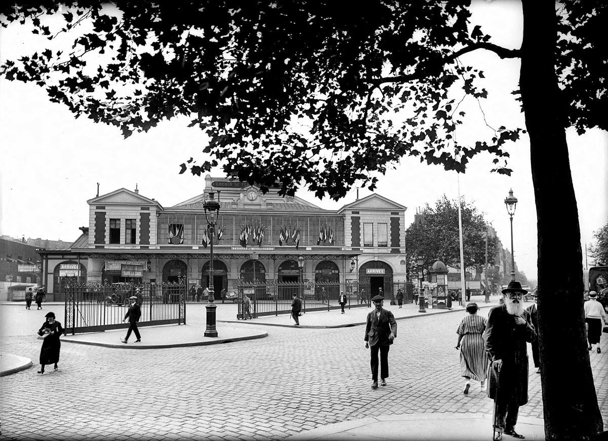 La gare de la Bastille. Paris, vers 1920-1925.