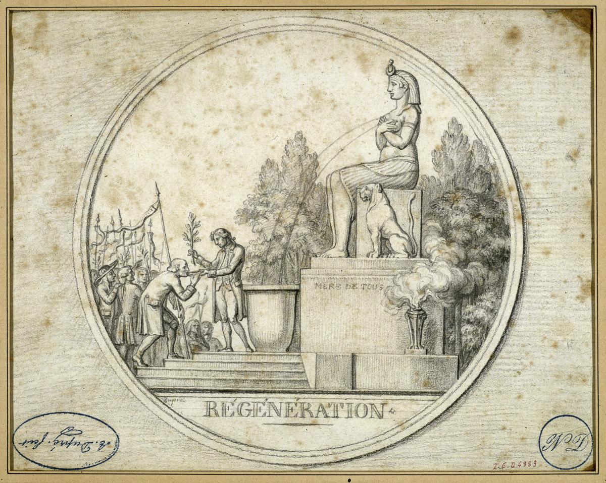 La Fontaine de la Régénération en 1793.
