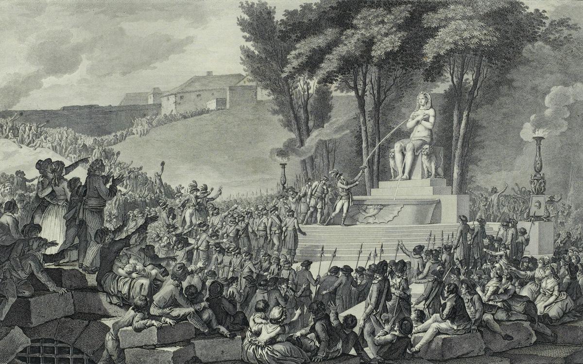La Fontaine de la Régénération entre 1796 et 1797.