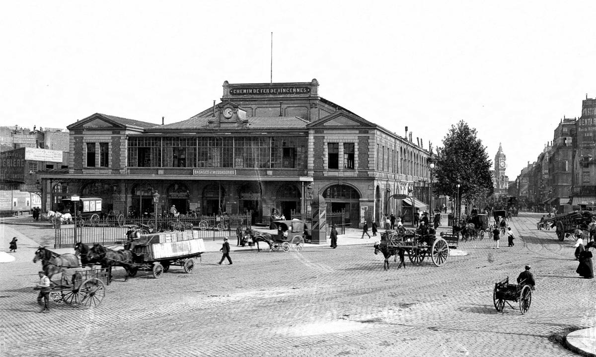 L'ancienne gare de la Bastille.