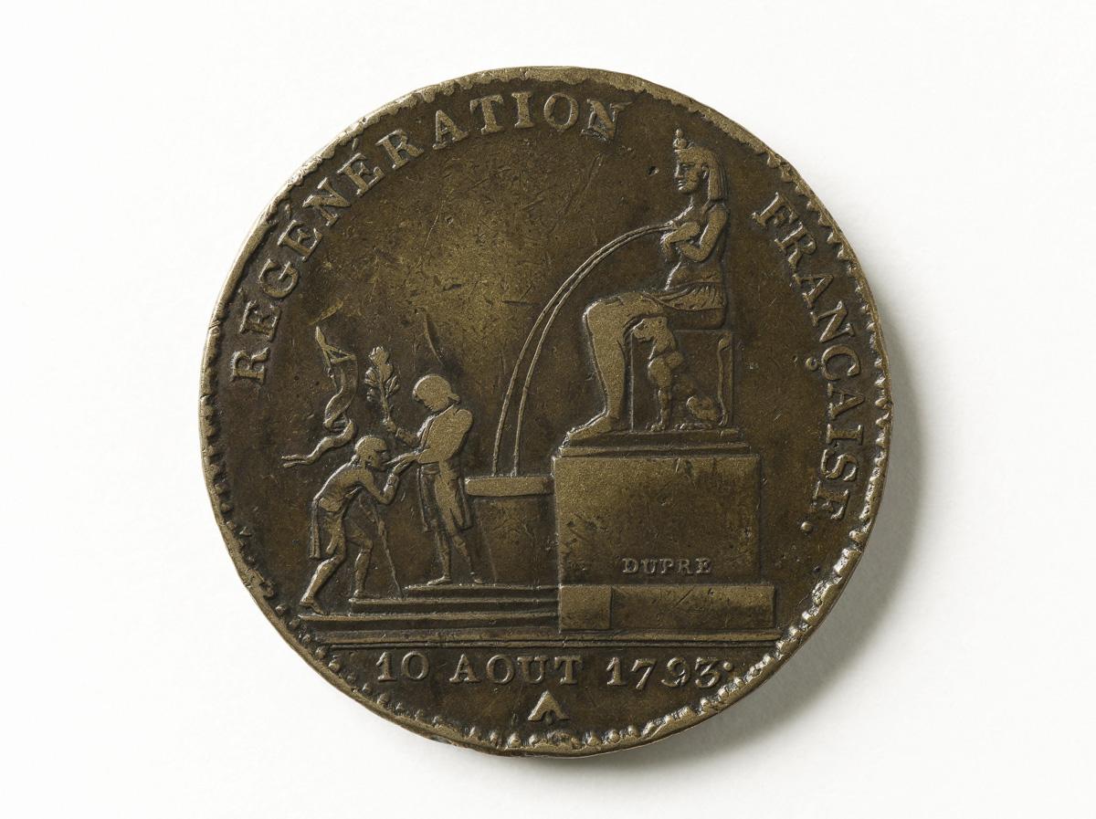 """Pièce de cinq décimes """"Régénération française"""", 1793"""