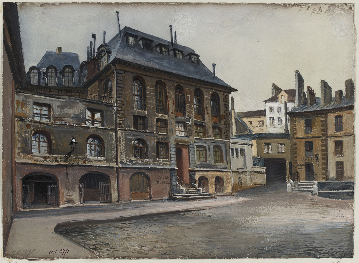 Hôpital de la Charité en 1904.
