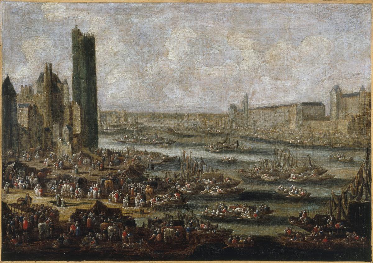 La Tour de Nesle et le Louvre, vers 1650
