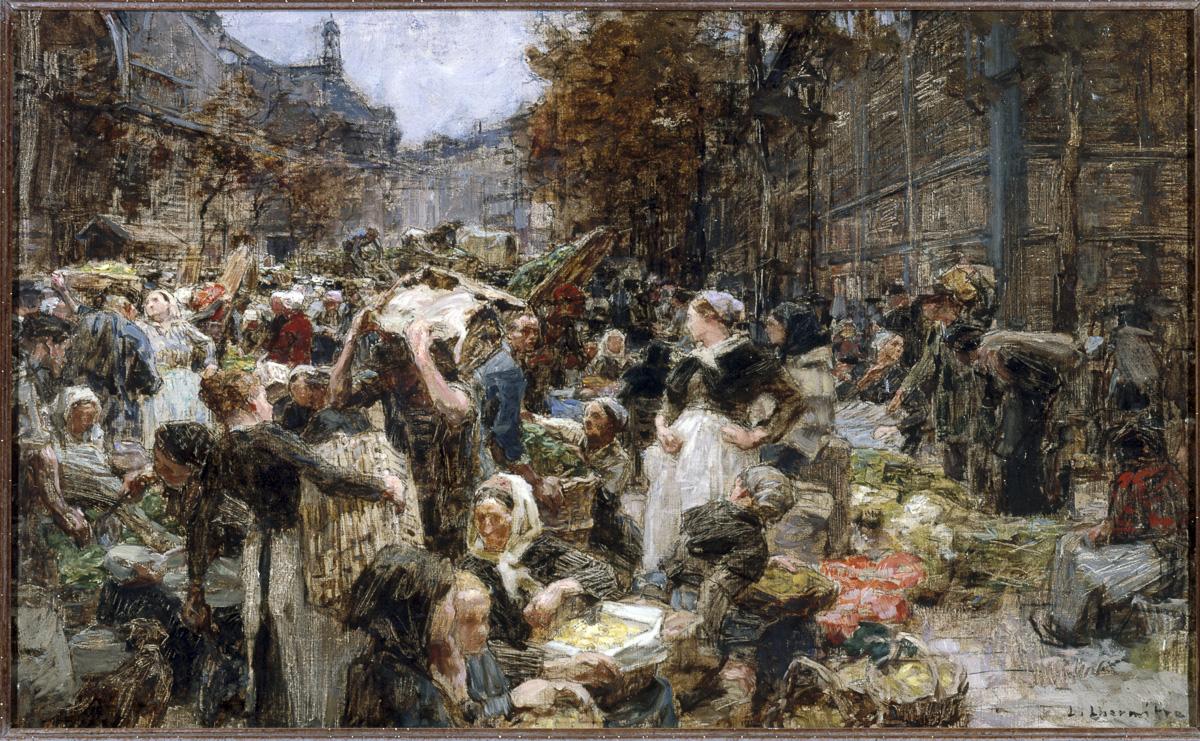 """Les Halles"""", esquisse pour le vestibule du salon des lettres à l'Hôtel de Ville de Paris, 1889."""