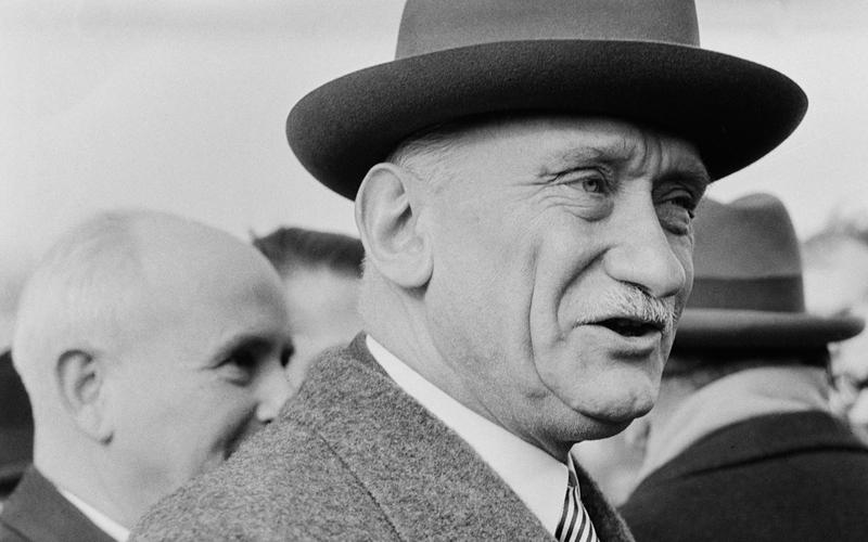 Robert Schuman (1886-1963), homme politique français.