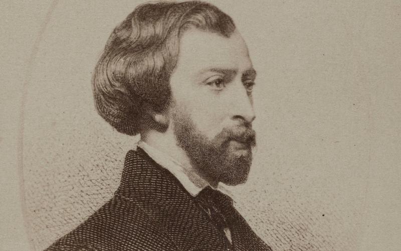Portrait d'Alfred de Musset (1810-1857), poète et auteur dramatique.Entre 1860 et 1890.