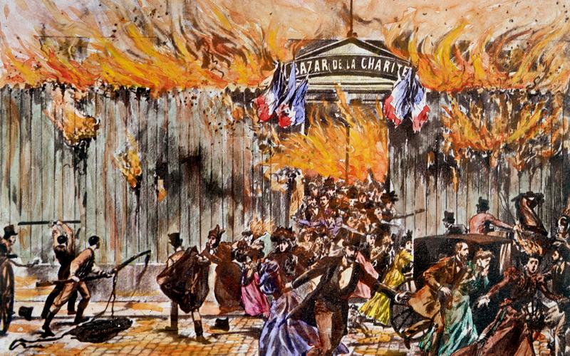 Incendie du Bazar de la Charité. L'entrée. Paris, 4 mai 1897.