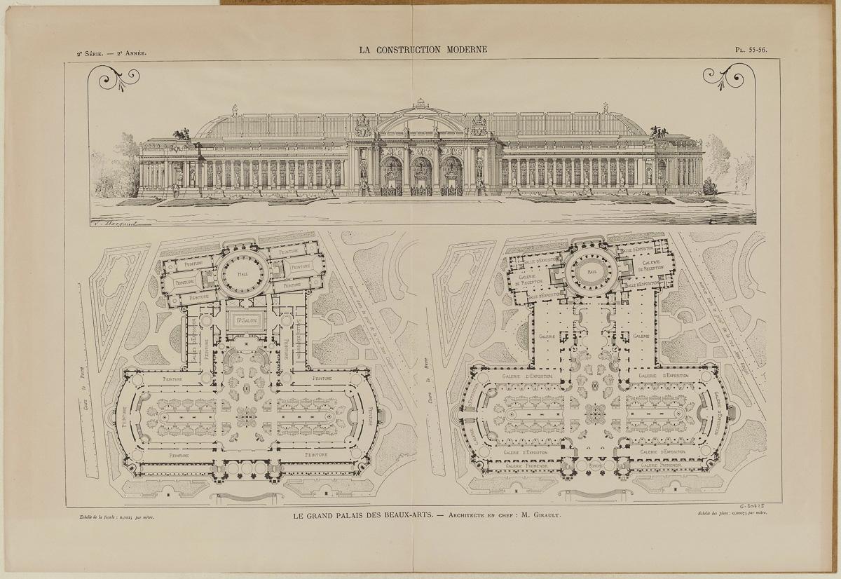 Le grand palais des beaux-arts. - Architecte en chef : M. Girault.