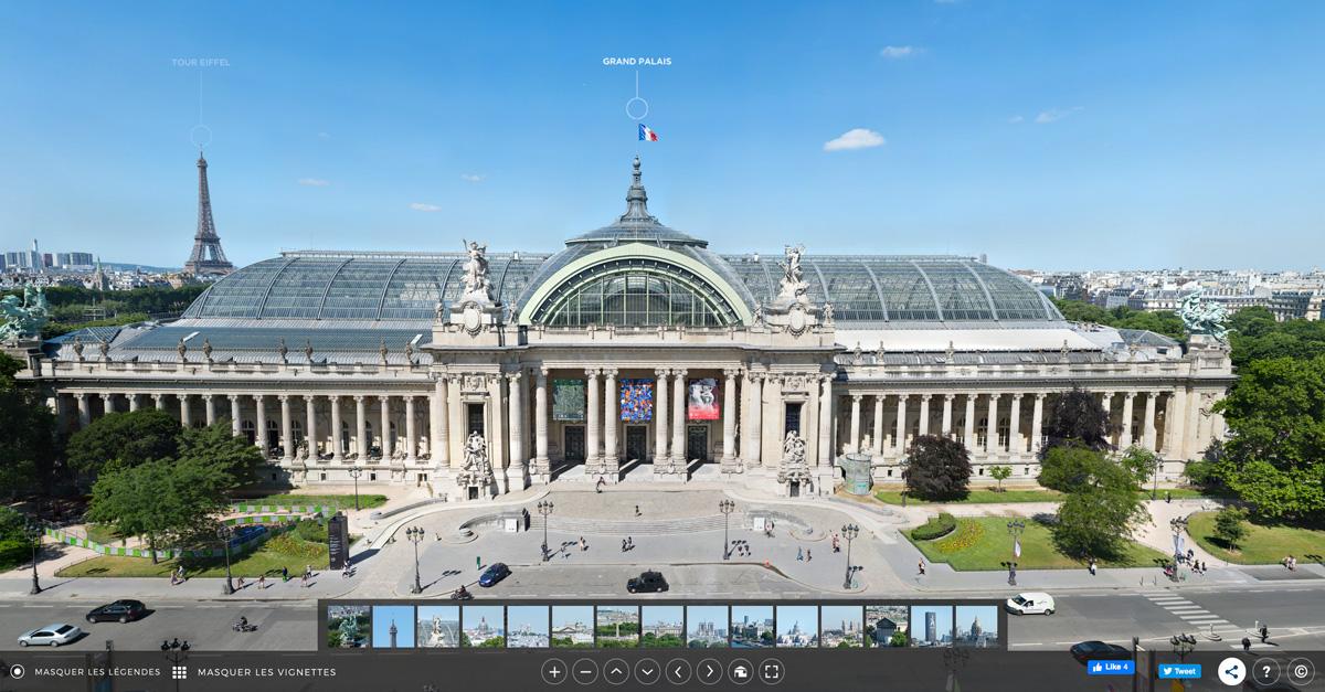 Gigapixels sur le Grand Palais