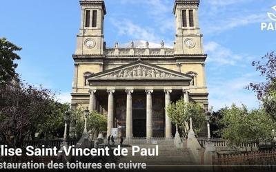 Restauration des toitures de l'église Saint-Vincent-de-Paul