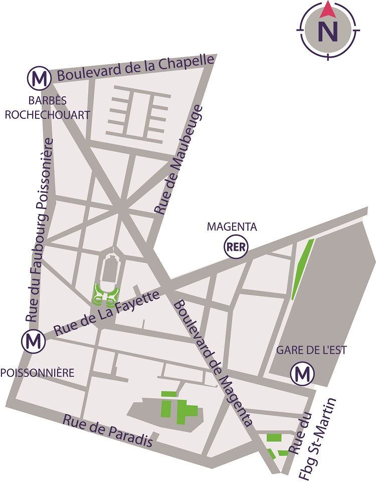 Plan du quartier Saint-Vincent de Paul / Paradis